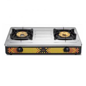 Table gas stove 2 large gas burners MEGA BURNERS MEX model PC602M